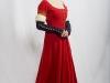 Красный средневековый костюм