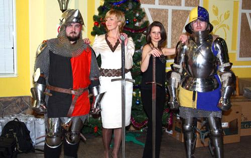 Организация нового года в рыцарском стиле